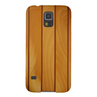 De bruine houten Melkweg van Samsung van het Galaxy S5 Hoesje
