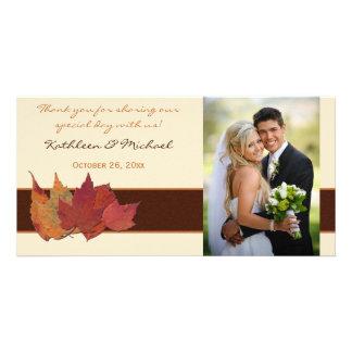 De bruine Kaart van de Foto van het Huwelijk van
