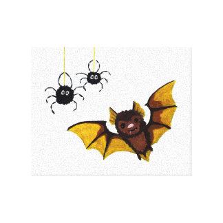 De Bruine Knuppel van schattig Halloween met 2 Canvas Print