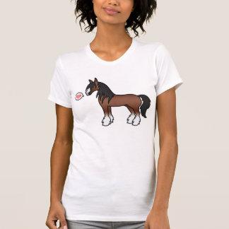 De bruine Liefde van Clydesdale van het Graafschap T Shirt