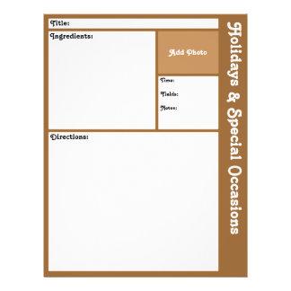 (De Bruine) Pagina's van het recept Flyer 21,6 X 27,9 Cm