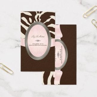 De Bruine, Roze, Beige Gestreepte strepen van Visitekaartjes