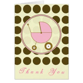 De bruine Stip/het Roze Vervoer van het Baby dankt Kaart