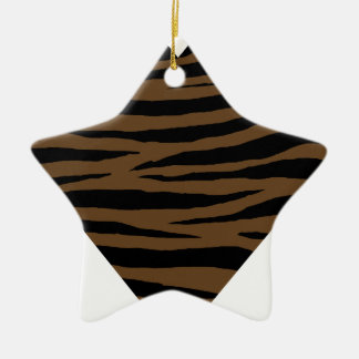 De Bruine Tijger GH van de otter Keramisch Ster Ornament