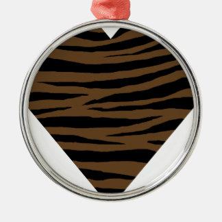 De Bruine Tijger GH van de otter Zilverkleurig Rond Ornament