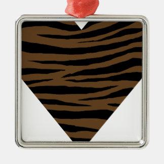 De Bruine Tijger GH van de otter Zilverkleurig Vierkant Ornament