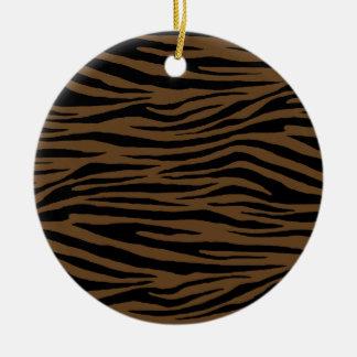 De Bruine Tijger van de otter Rond Keramisch Ornament