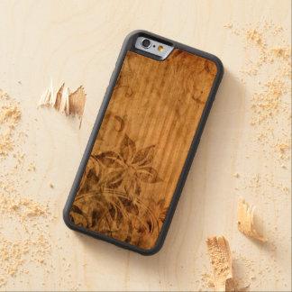 de bruine vintage bloemen wervelen abstract kersen iPhone 6 bumper case