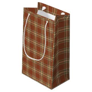 De bruine Zak van de Gift van het Geruite Schotse Klein Cadeauzakje