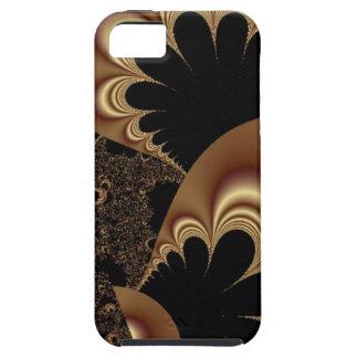 De bruine Zwarte Fractal van het Bloemblaadje van  iPhone 5 Cases