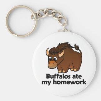 De buffels aten mijn thuiswerk sleutelhanger