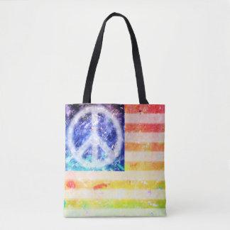 De Buitenissige Vlag van de Vrede van de hippie