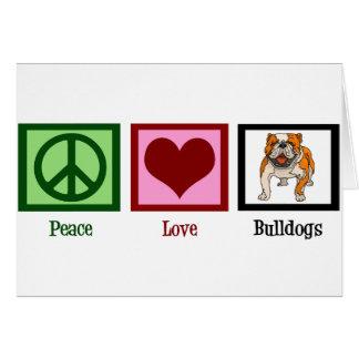 De Buldoggen van de Liefde van de vrede Kaart