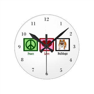 De Buldoggen van de Liefde van de vrede Ronde Klok