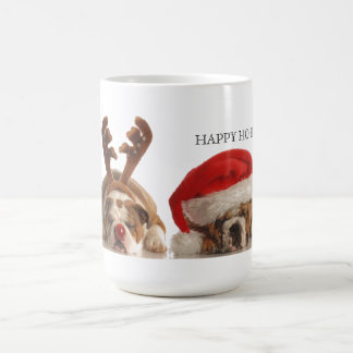 De Buldoggen van Kerstmis Koffiemok