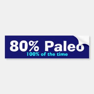 De Bumper Paleo van 80% Bumpersticker