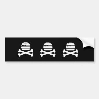 De Bumper van de Hamburger van de schedel Bumpersticker