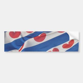 De Bumper Zieker Friesland Vlag van de Vlag van Fr Bumpersticker