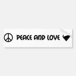 De bumpersticker van de vrede en van de Liefde