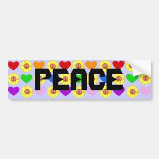 De bumpersticker van de Vrede van de regenboog