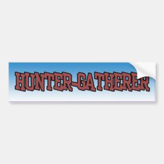 De bumpersticker van Gatherer van de jager