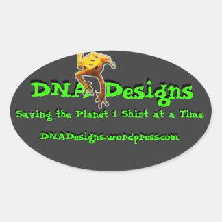 De bumpersticker van het DNA- Design Ovale Sticker