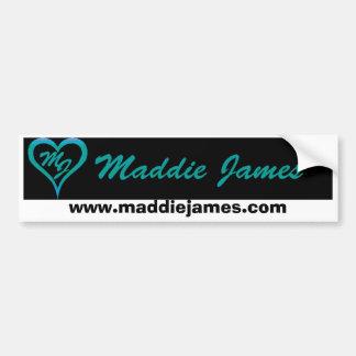 De bumpersticker van James van Maddie