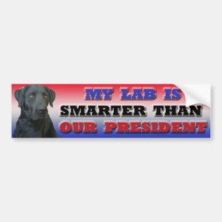 De bumpersticker van Labrador