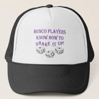 de bunco spelers weten het hoe te om het omhoog te trucker pet
