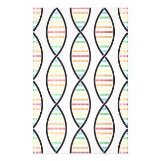 De Bundels van DNA van de regenboog Briefpapier