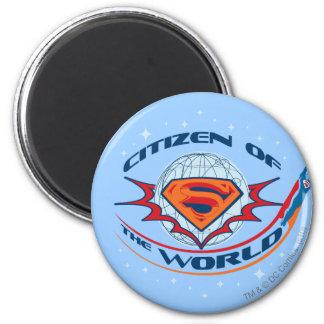 De Burger van de superman van de Wereld Ronde Magneet 5,7 Cm