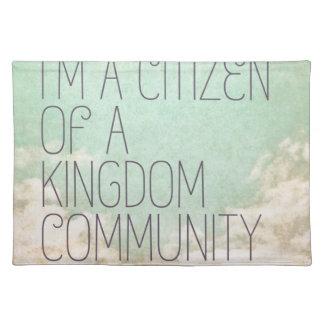 De Burger van het koninkrijk Placemat