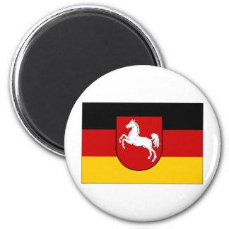 De Burgerlijke vlag van Duitsland Nedersaksen Magneet