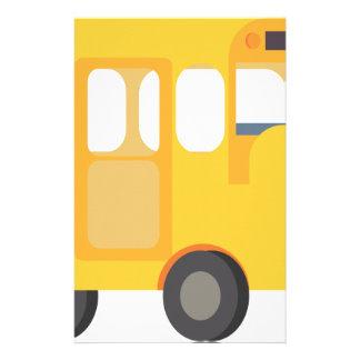 De Bus van de school Briefpapier