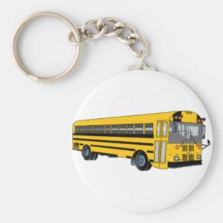 De Bus van de school Sleutelhanger