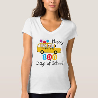 De Bus van de school viert 100 Dagen T Shirt