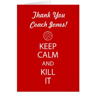 De Bus van het volleyball dankt u nota neemt van Kaart