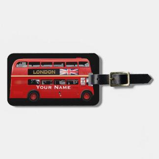 De bus van Londen Kofferlabel