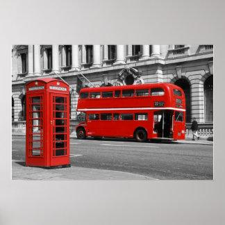 De Bus van Londen & Rode Telefooncel Poster