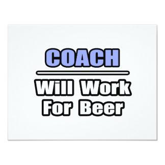 De bus zal… voor Bier werken 10,8x13,9 Uitnodiging Kaart