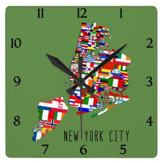 De Buurt van de Stad van New York markeert de Klok