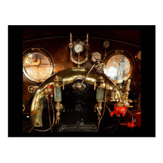 De Cabine van de Motor van de stoom Briefkaart