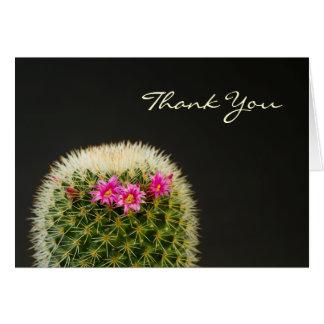 De cactus dankt u kaardt kaart