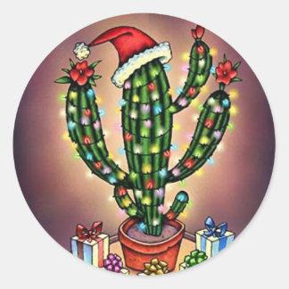 De Cactus Saguaro van de Boom van de Vakantie van Ronde Stickers