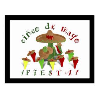 De Cactus van de fiesta met Gitaar & Dansende Briefkaart