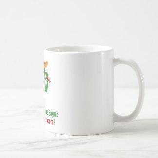 De Cactus van de peper zegt Meer Peper eet Koffiemok