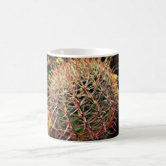 De Cactus van het vat in de Rode Mok van de Koffie