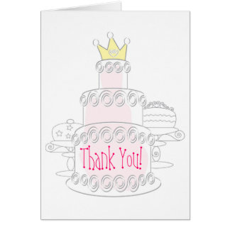 De cake dankt u kaardt briefkaarten 0