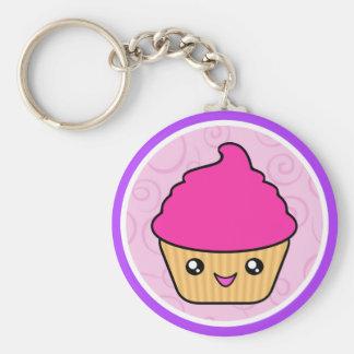 De Cake Roze Cupcake van Cuppy van Kawaii Sleutelhangers