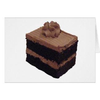 De Cake van de chocolade Kaart